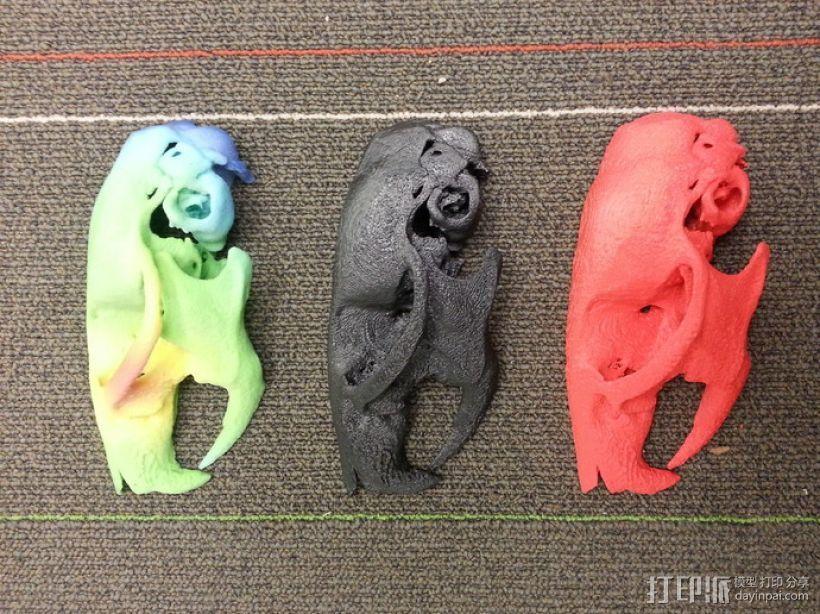 显微CT 老鼠颅骨 3D打印模型渲染图