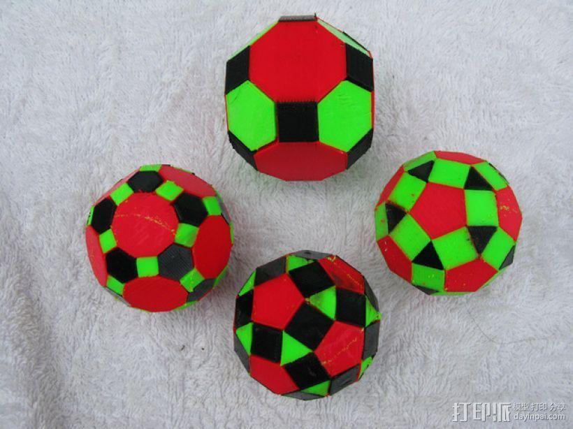 三色阿基米得多面体 3D打印模型渲染图