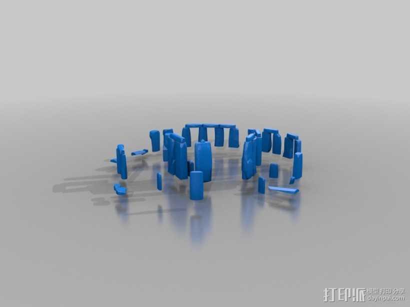 巨石阵 3D打印模型渲染图