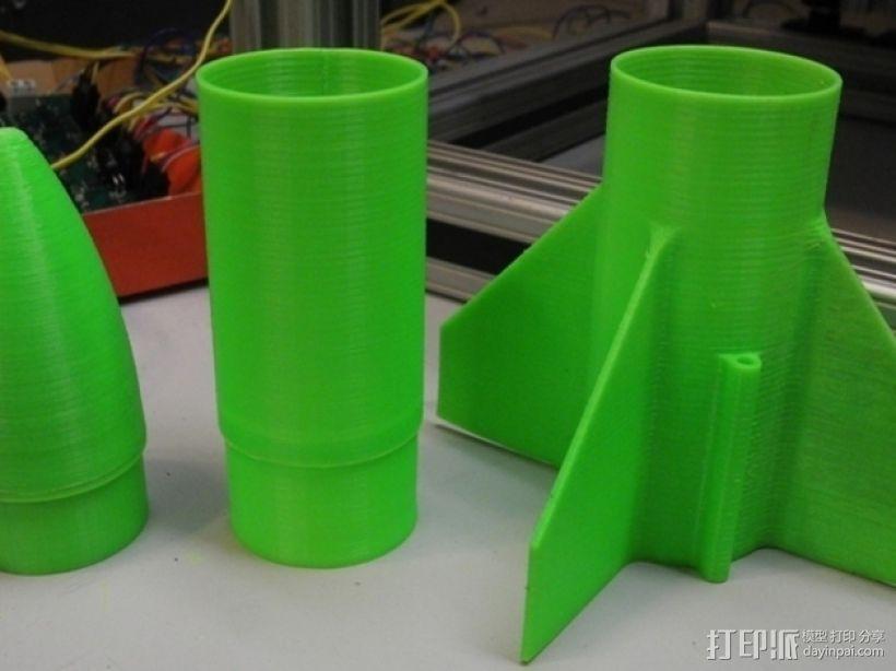 模块化火箭 3D打印模型渲染图