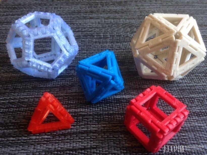 铰链多面体 3D打印模型渲染图