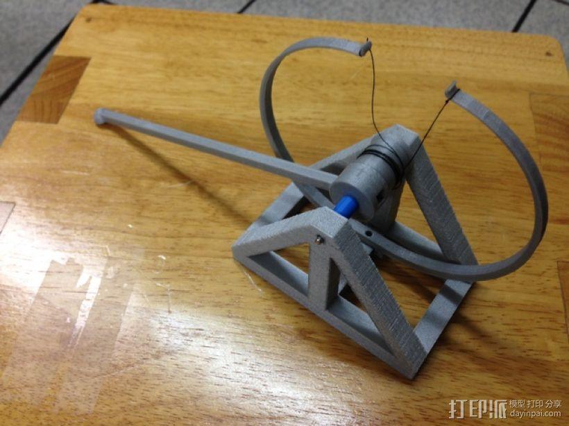 达芬奇 弹射器 3D打印模型渲染图