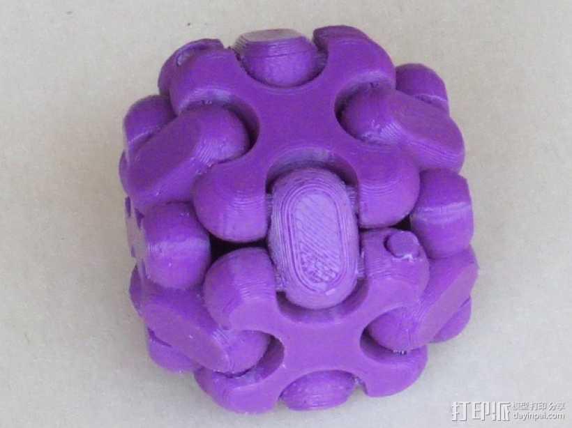 可折叠方块 3D打印模型渲染图