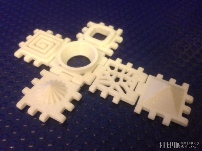 六面体 正方体 3D打印模型渲染图
