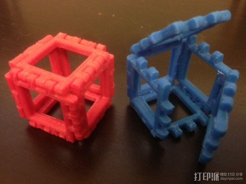 正方体 3D打印模型渲染图