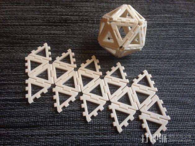 二十面体 3D打印模型渲染图