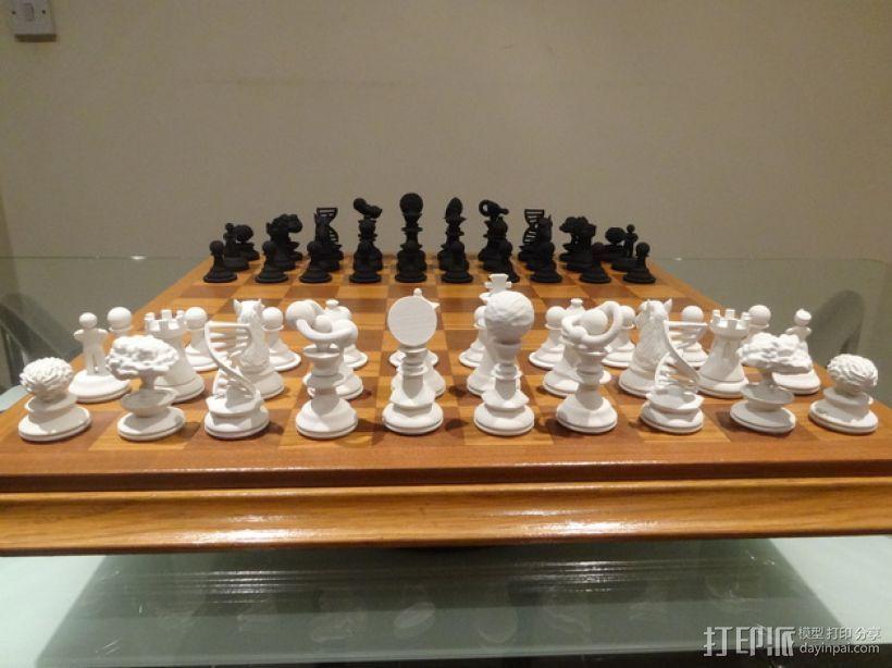 Sim象棋 3D打印模型渲染图