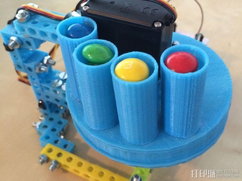 药丸自动分配器 3D打印模型渲染图