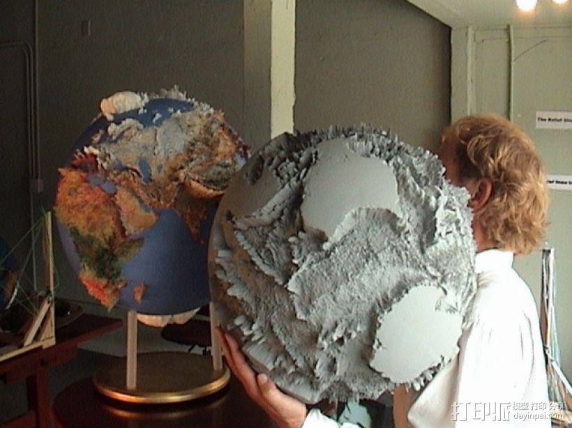 地球仪 3D打印模型渲染图