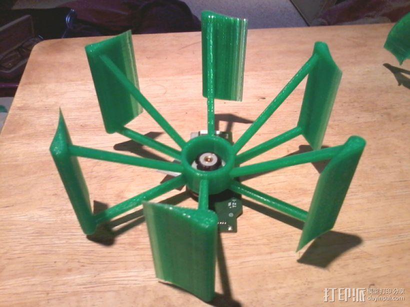 垂直轴风车 3D打印模型渲染图
