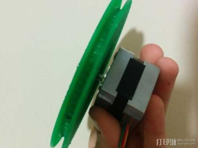 驱动皮带轮 3D打印模型渲染图