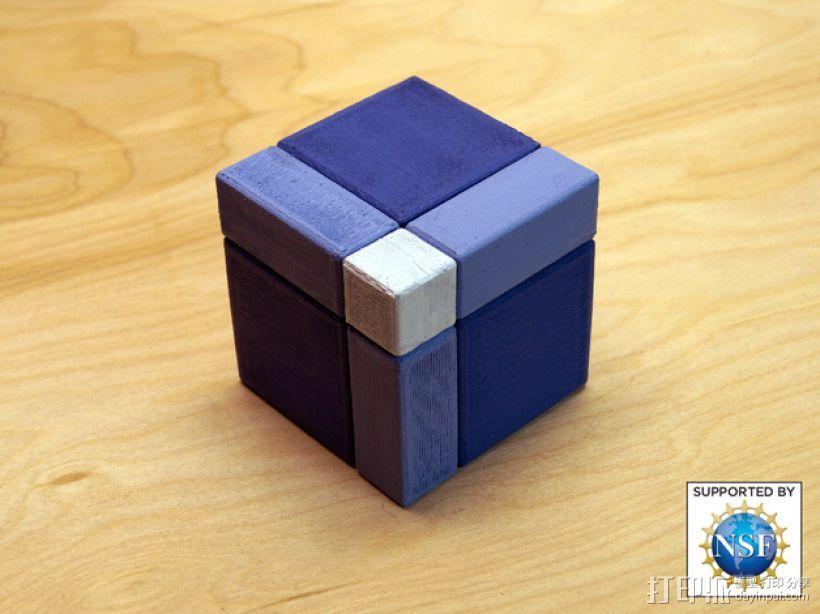 分解正方体  3D打印模型渲染图