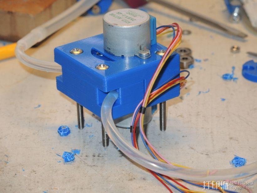 蠕动泵 3D打印模型渲染图