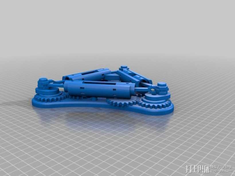 Napier Deltic发动机 3D打印模型渲染图
