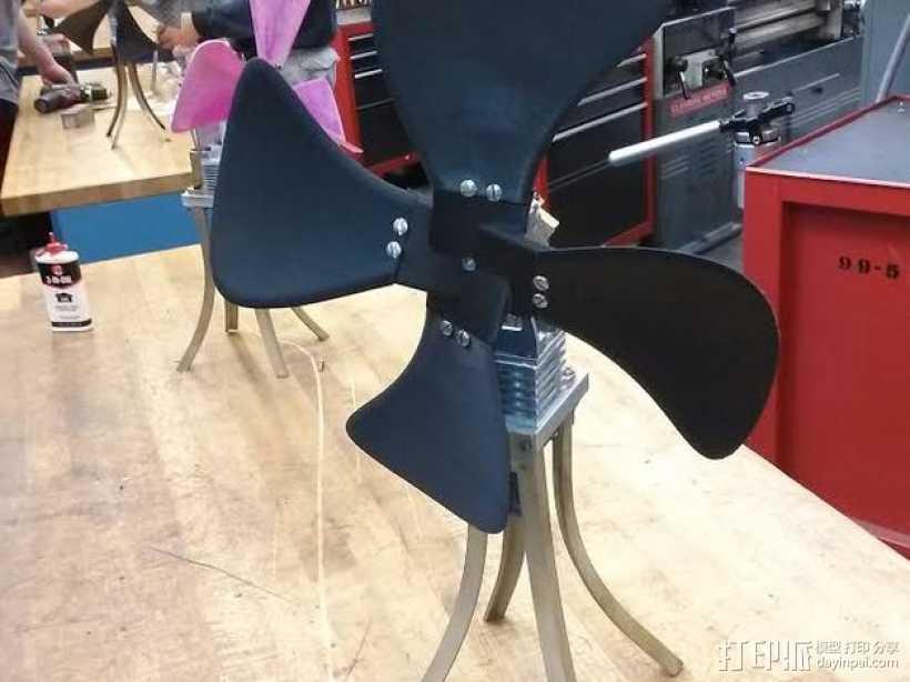 风扇叶片和风扇毂 3D打印模型渲染图