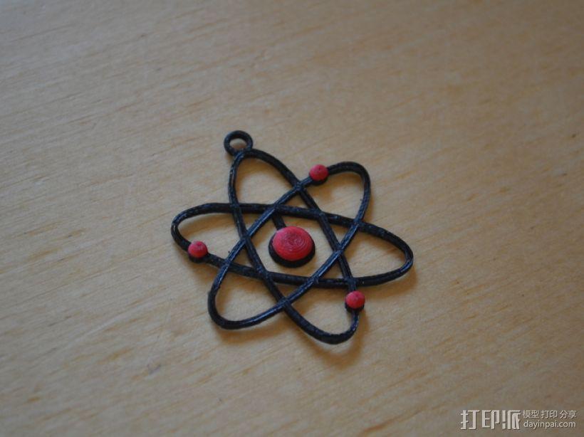 原子模型  3D打印模型渲染图