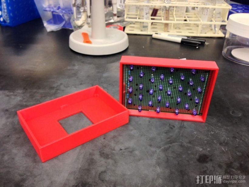 LED电路板盒子 3D打印模型渲染图