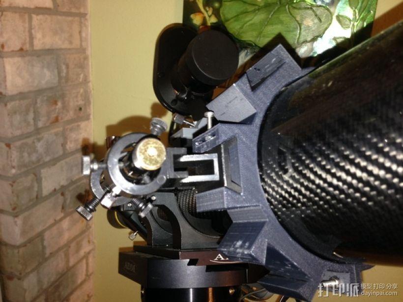 望远镜装配环 3D打印模型渲染图