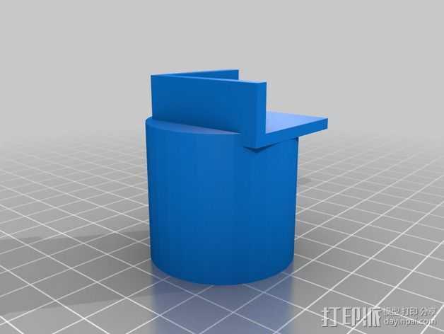 显微镜/智能手机适配器 3D打印模型渲染图