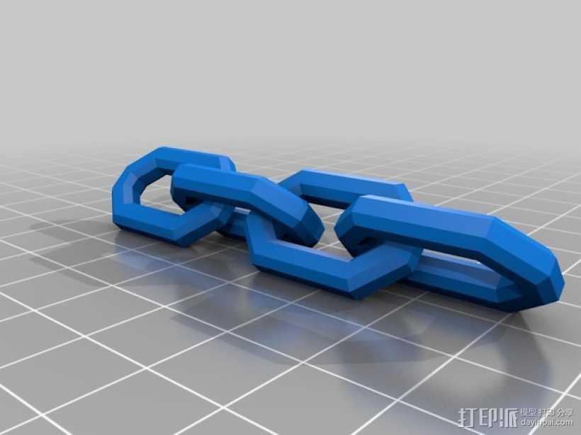 锁链 3D打印模型渲染图