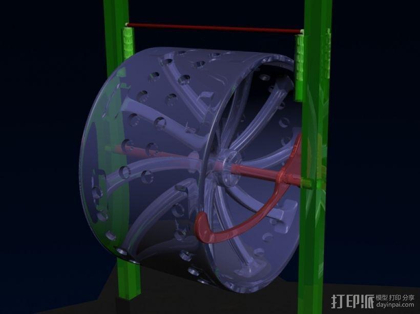 永动机 3D打印模型渲染图
