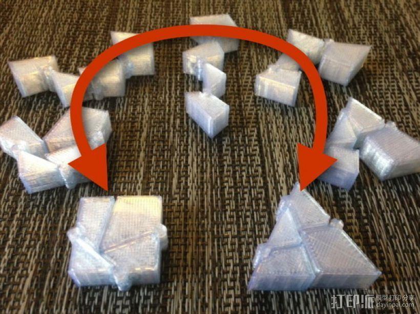 三角块 3D打印模型渲染图
