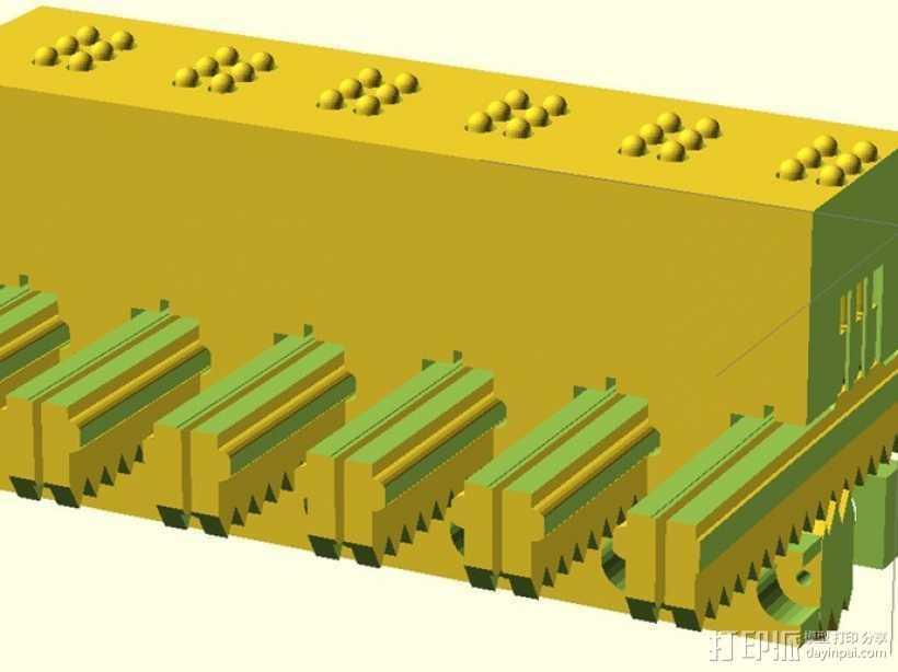 盲文点触设备 3D打印模型渲染图