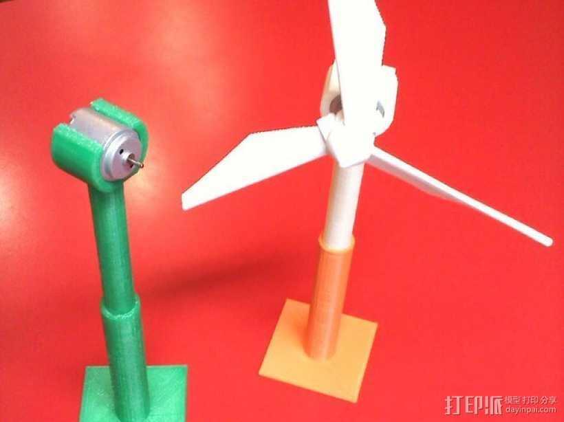 风力涡轮机 底座 3D打印模型渲染图