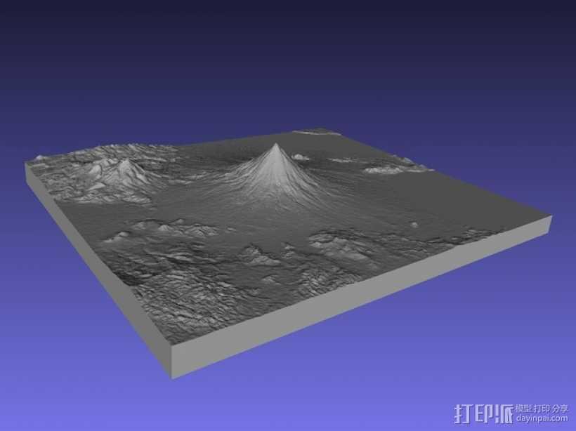 马荣火山 模型 3D打印模型渲染图