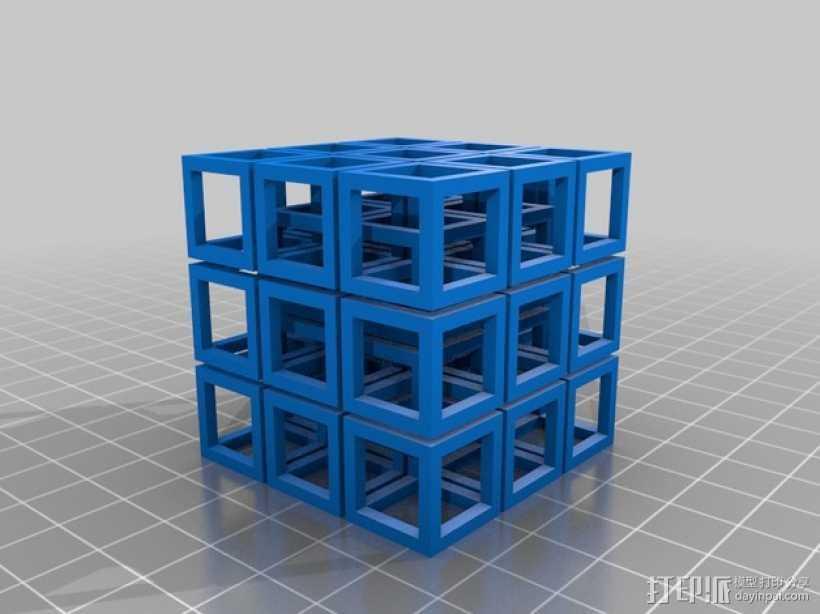 立方体方块 3D打印模型渲染图