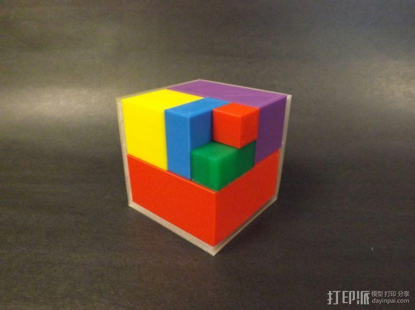 几何方块 教学用具 3D打印模型渲染图