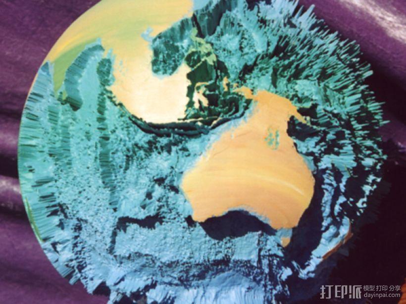 地球模型 3D打印模型渲染图