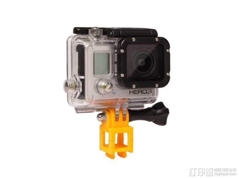 GoPro 照相机支座 3D打印模型渲染图