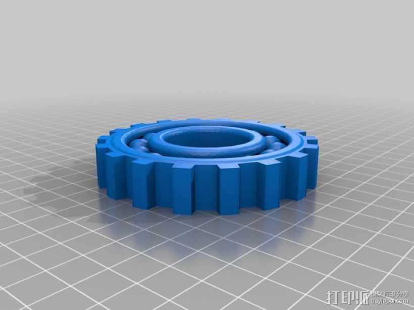 盘车齿轮 3D打印模型渲染图