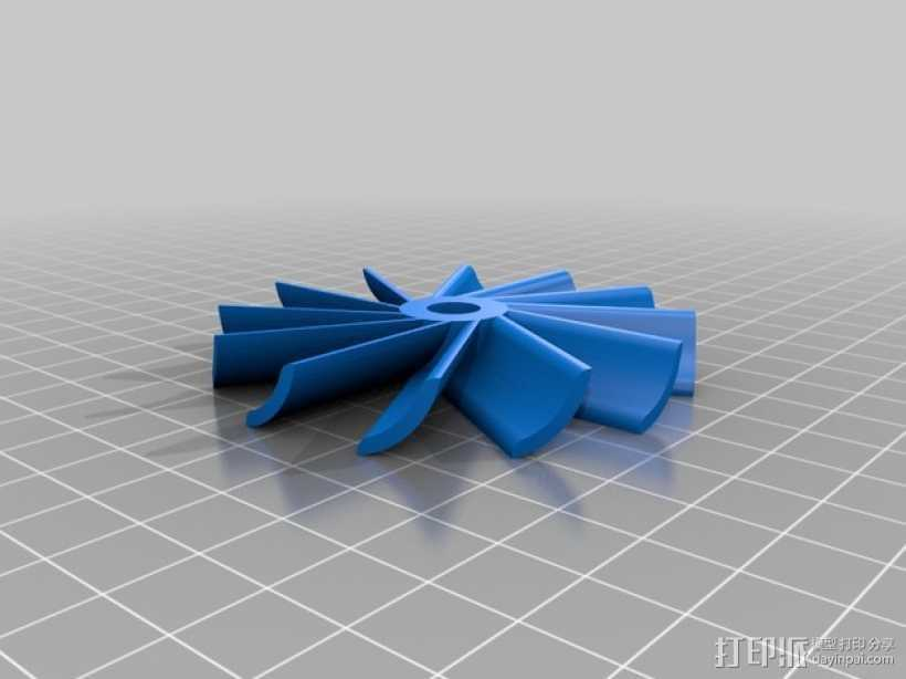 水轮机 风车 3D打印模型渲染图