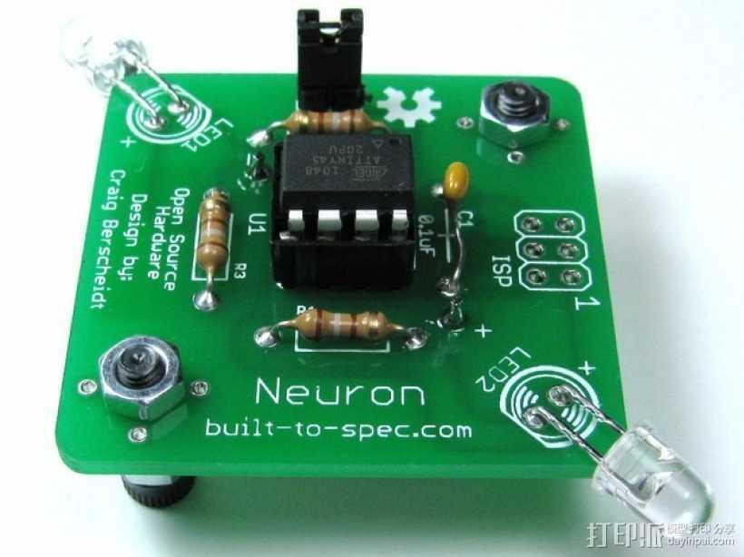 Neuron神经元芯片 3D打印模型渲染图