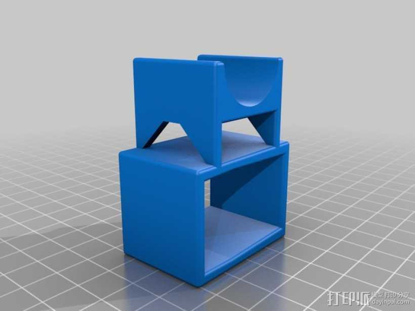 Asus Xtion Pro马达支座 3D打印模型渲染图