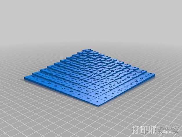 盲文板 3D打印模型渲染图