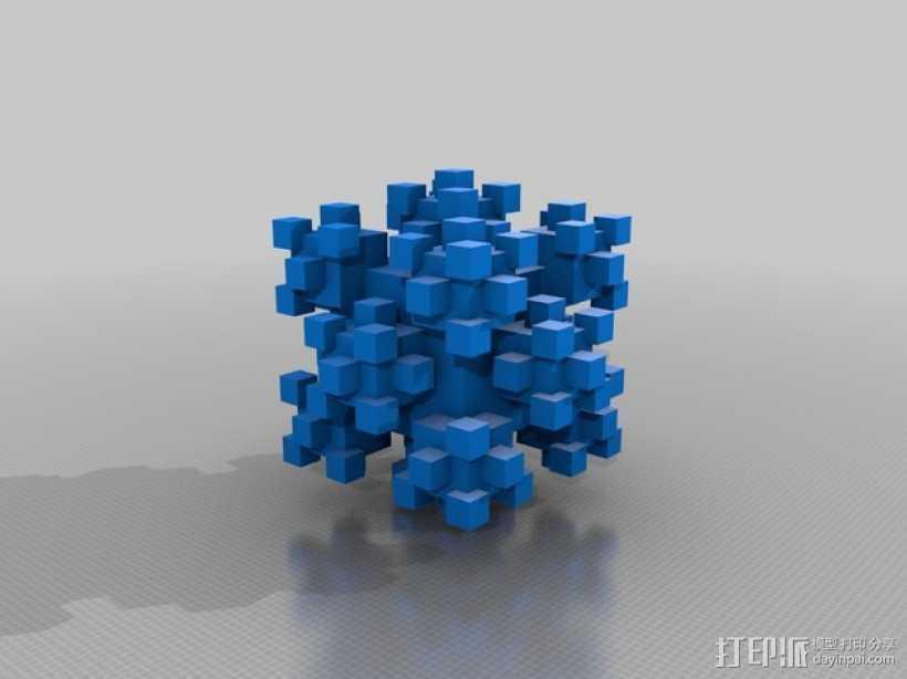 分形几何体 3D打印模型渲染图