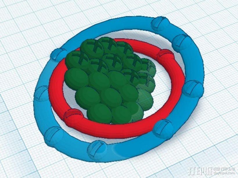 氖原子模型 3D打印模型渲染图