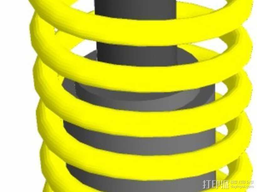 减震器 3D打印模型渲染图