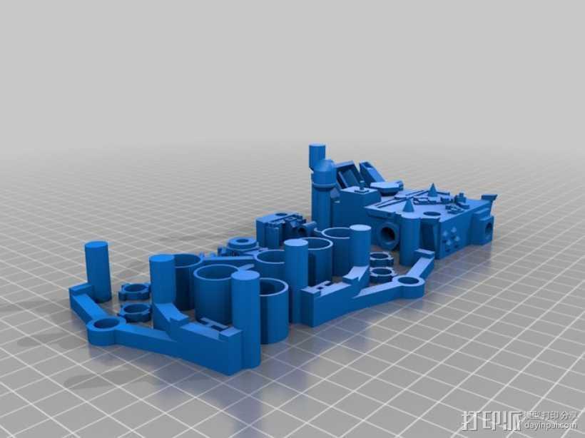 火星探测器模型 3D打印模型渲染图
