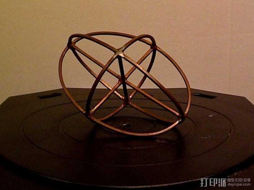 折射率椭球模型 3D打印模型渲染图
