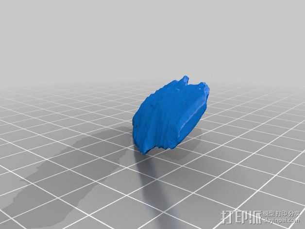 无柄投射矛尖模型 3D打印模型渲染图