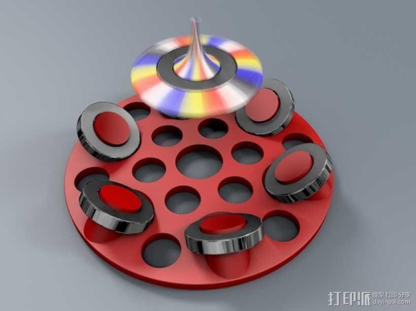 悬浮的飞碟 3D打印模型渲染图