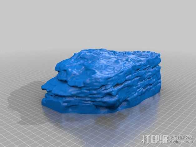 砂岩模型 3D打印模型渲染图