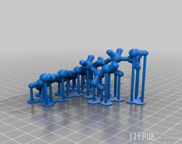 核黄素分子模型 3D打印模型渲染图