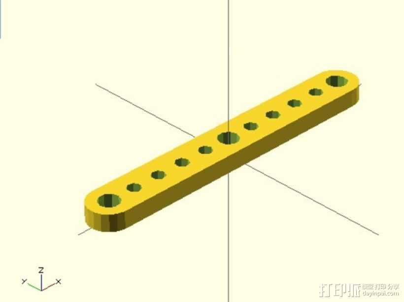 剪刀式升降机升降臂 3D打印模型渲染图