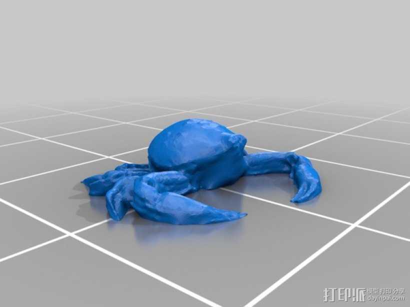 斑点蟹模型 3D打印模型渲染图