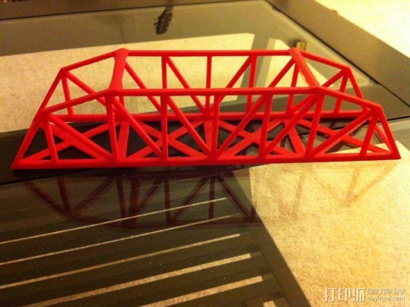 桥桁架 模型 3D打印模型渲染图